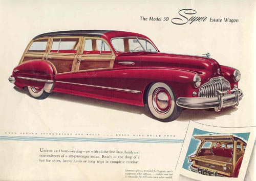 1946 Buick Roadmaster Estate Wagon ad.
