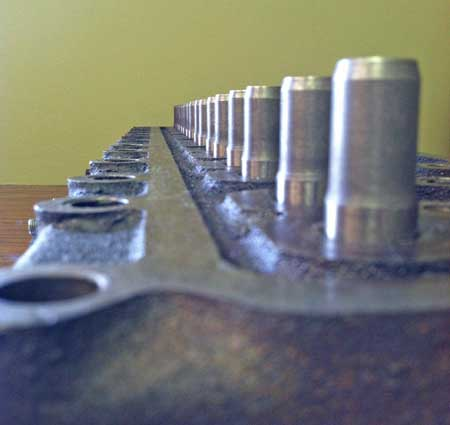 A view of my newly pressed valve guides.