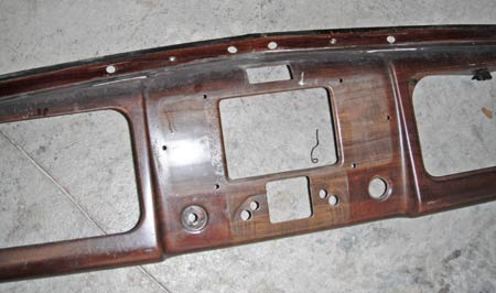 Dash removed – note the difference in colors.  The lighter area was actually the area protected from the sun.