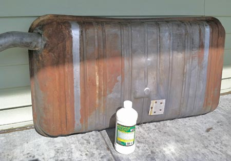 Using Marine Clean is the first step in the POR-15 Fuel Tank restoration process.