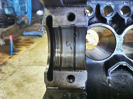 This is the rear-main bearing.