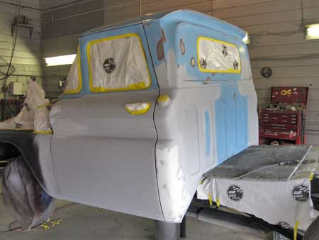 The lower door, rocker and front fenders were primed.