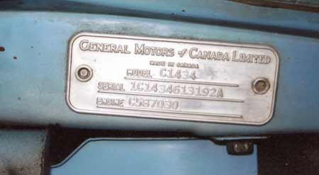 The cowl tag is riveted on the driver side windshield post. It describes the truck configuration and lists engine serial number which often was used as registration in some States.