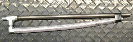 A venturi siphon gun can greatly improve the media flow through a cabinet blaster. Standard guns sold with cabinet blasters don't usually have all the bells and whistles.  (Photo courtesy Metal Finishing Supply Co., Brookfield, Wis.)