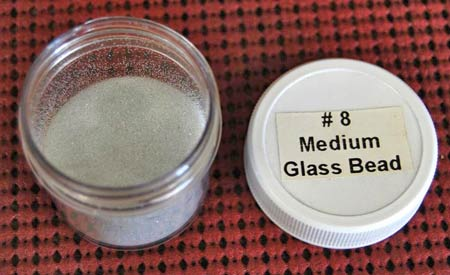 This is what #8 Medium Glass Bead media looks like. (Photo courtesy Metal Finishing Supply Co., Brookfield, Wis.)