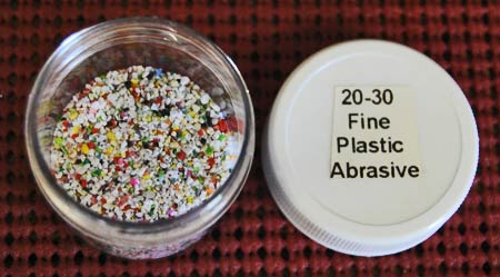 This 20-30 Fine Plastic Abrasive looks like you could sprinkle it on a cookie or birthday cake, but that's not a great idea. (Photo courtesy Metal Finishing Supply Co., Brookfield, Wis.)