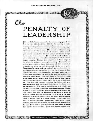Cadillac Penalty of Leadership Ad.