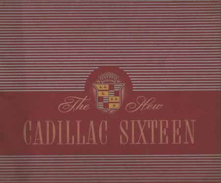 New Cadillac Sixteen Brochure of 1938.