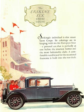 1927 Sport Coupe ad