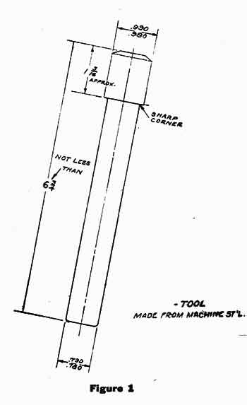 Figure 1. To install the king pin kit with the Torrington Needle Bearing upgrade you will have to make this simple tool.