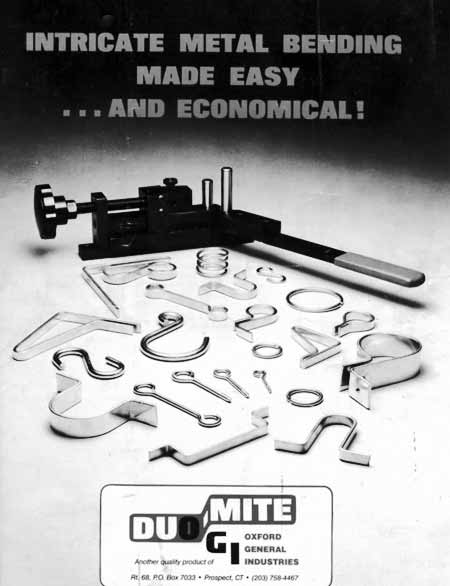 Photo 18 — Brochure of the Dou-Mite Bender showing many examples of the products that can be produced.