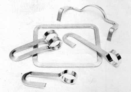 Photo 19 — Additional examples of brackets that can be fabricated using the edge bending accessory.