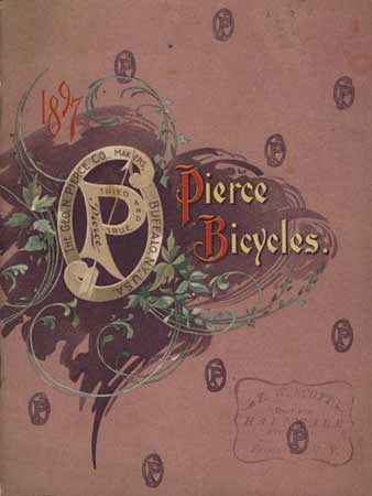 Cover of 1897 Piece Bicycle product catalog.