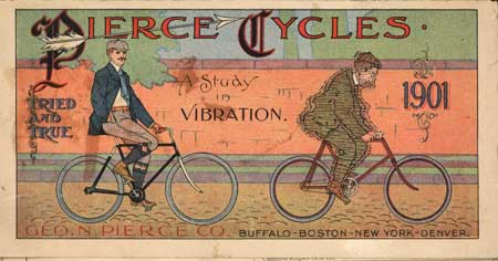 1901 Pierce 'Study in Vibration' Ad.