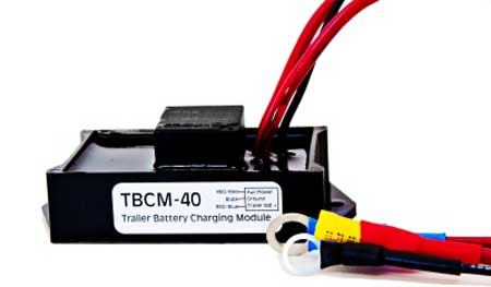 Trailer Battery Charger Module from Atkinson Electronics. This will keep the battery in the trailer charged while the truck and trailer are traveling down the highway.