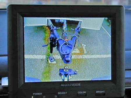 Having a rear-view monitor on a the tow vehicle also has the benefit of making things easier when hooking up the trailer. Remember that the monitor you select must have Reverse Video function to correct for left and right.