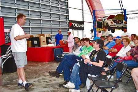 Jeremy Vreeman, president of Motorworks Restorations, Inc. in Colorado Springs, presents VW restoration seminars at the VW Funfest in Effingham,  Ill.