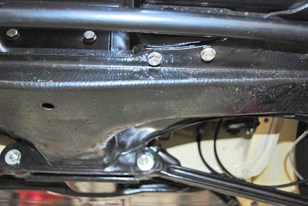 Super Beetle owner was not concerned about re-using original hardware so stainless steel fasteners that look good and never rust were used.