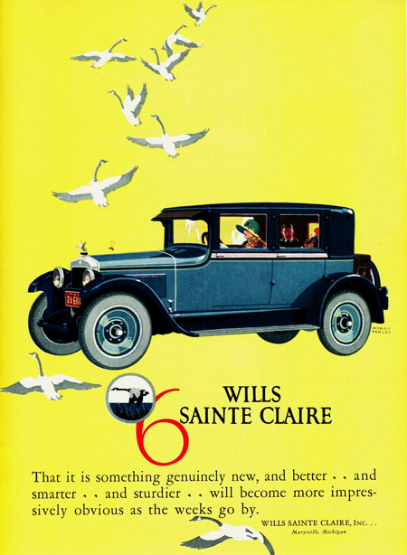 Wills SainteClaire ad with geese.