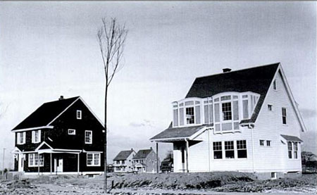 Single family residences under construction.
