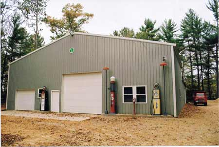 A well-insulated post-frame building with corrugated steel walls is a good option for secure storage of collector cars over winter.