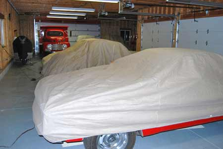 You'll want to use breathable car covers on all sizes of cars and on light-duty trucks, although the Ford dump truck is too big to get a cover for.