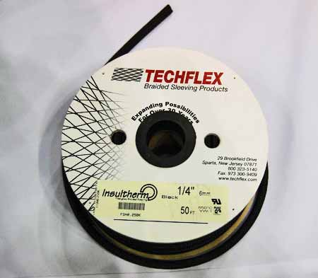 "Also available from Wire Care are Techflex Braided Sleeving products such as this Insulthermâ""¢ black sleeving. Techflex, of Sparta, N.J., was actually formed way back in 1965 and is celebrating its 50th anniversary this year."