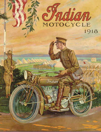Indian Motorcycle ad.