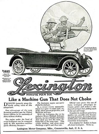 Lexington Minute Man Six ad.