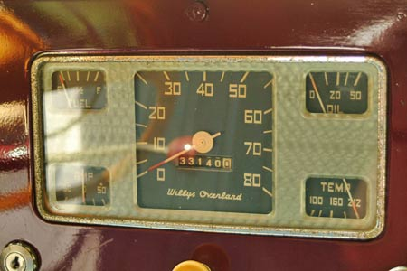 The 33K on the odometer is the actual mileage reading of this Jeepster which has survived for almost 60 years in remarkably good shape. Owned by Ray Weber of Aberdeen, NJ, it has AACA Bronze status.