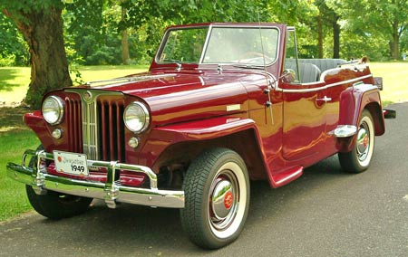 Despite a 3-year production run from 1948-1950, the Jeepster never caught on with the general public and just a tad over 19K copies rolled off the assembly line during that period.