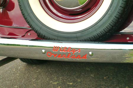Lest you forget who made this vehicle, the Willys-Overland identification was plentiful on the Jeepster and even stamped into the rear bumper.
