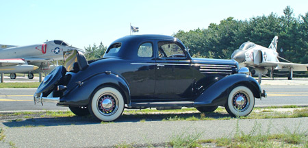 Saved from becoming a street rod, the restored '35 DU Coupe is quite a looker.