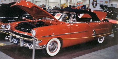 1953 Ford convertible in red was height of luxury.
