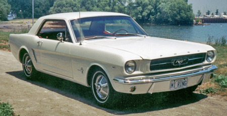 A 1965 Mustang in Wimbledon White is always in style.
