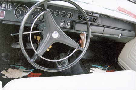 Pistol Grip shifter, clock and radio are popular options.