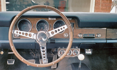 Most GTOs only had a few options and many were customized. This 1968 is typical with Grant steering wheel, gauges and rear air shocks.