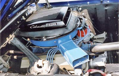 The 428 Cobrajet is the most desirable regular production engine, this is an 'R' code Ram Air version.