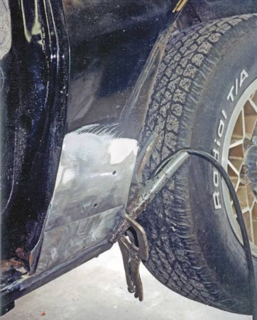 Rear fender patch repairs are very common due to trapped dirt under the fender spats.