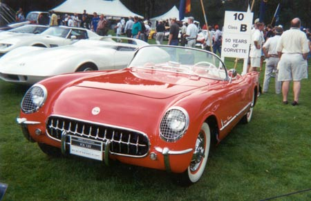 Kerbeck exhibited the car at several high-profile shows including the 2002 Meadow Brook Hall Concours d'Elegance while it was still in its 1955 dress. Photo courtesy of Kerbeck Chevrolet.