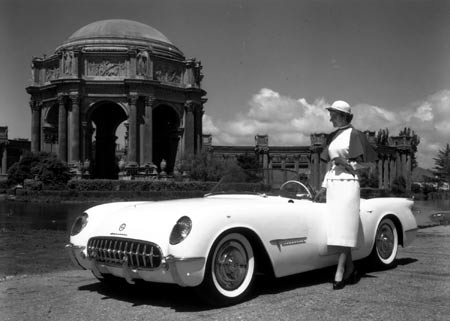 The little car certainly earned its keep at the center of photo shoots with all sorts of exotic backdrops. Having a tall woman standing next to the sporty roadster emphasized how low and sleek it was.