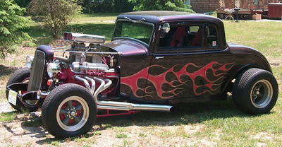 """Screaming Mimi""  —  a 1933 Dodge 5-Window Coupe Street Rod.