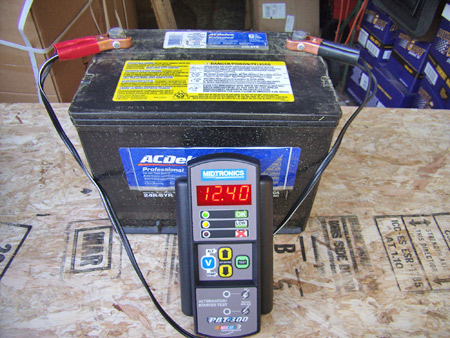 In addition to displaying the CCA power, the Midtronics meter also tells you what the available voltage is. The PBT-300 also performs alternator and starter tests, too.