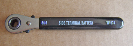 "This side-terminal battery wrench is just the ticket for quickly tightening or loosening the 5/16"" side battery terminals of later-model collector vehicles."