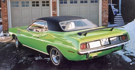 One that was saved, 1971 440 six pack cuda, known as 'barrelcuda', it was purchased then restored by Allan Gallant.