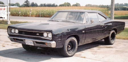 1968 Dodge Superbee with damaged 383. Eventually it disappeared.