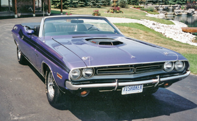 Loaded cars like this Plum Crazy Purple 340 Challenger convertible are expensive. Be sure it's genuine before paying market value.