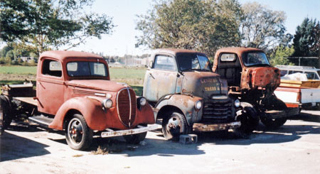 Many auctions sell farm estates including trucks and old equipment. This one yielded several excellent flat head V8 engines from 1940s Ford trucks.