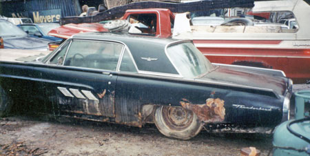 This 1963 Tbird isn't worth restoring but was a great  engine donor for $500.