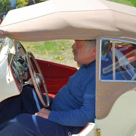Jim Grinney slid behind the wheel of his 1953 MG TD MK II anxious to try it out.